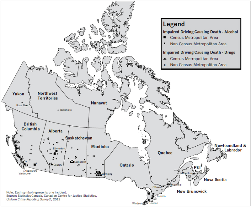 Canada Map Driving Victims of Crime Research Digest, Issue No. 7