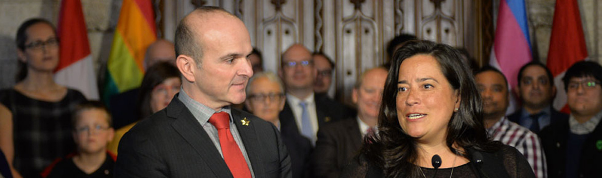 The Honourable Jody Wilson-Raybould, Minister of Justice and Attorney General of Canada and Randy Boissonnault, MP