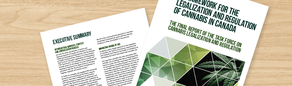 Task Force Report on Cannabis Legalization and Regulation
